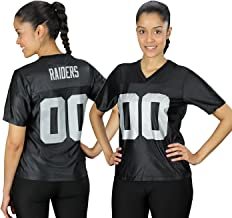 Oakland Raiders NFL Womens Team Dazzle Jersey, Black