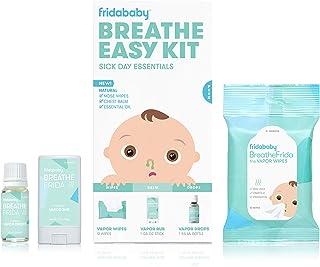 Sponsored Ad - Breathe Easy Kit Sick Day Essentials by FridaBaby - Natural Vapor Wipes, Organic Vapor Rub + Organic Vapor ...