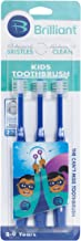 Brilliant Kids Toothbrush Ages 5-9 Years - When Adult Teeth Appear - BPA Free Super-Fine Micro Bristles Clean All-Around M...