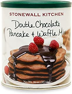 Stonewall Kitchen Double Chocolate Pancake and Waffle Mix, 16 Ounce Can