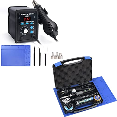popular YIHUA 959D Rework Station Bundled with YIHUA 947-V Soldering online sale Iron (19 popular items) online sale
