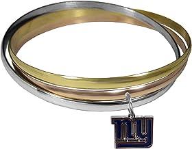 NFL New York Giants Womens Tri-color Bangle Bracelet