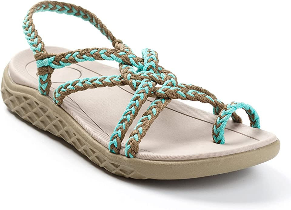 Plaka Explore Walking and Hiking Sandals for Women | Comfortable Summer Sandal with Arch Support | Waterproof Comfy Sandals for Travel, Beach or Poolside