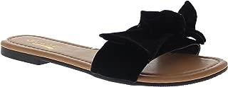 Women's Velvet Slippers w/Bow Honey-11