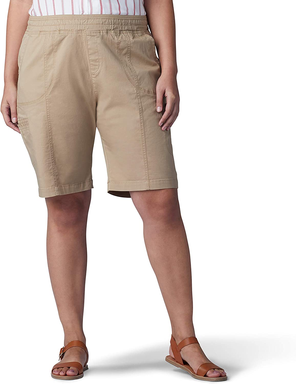 Lee OFFicial site Women's Plus Size Flex-to-go Cargo Challenge the lowest price of Japan Fit Pull-on Relaxed Bermu