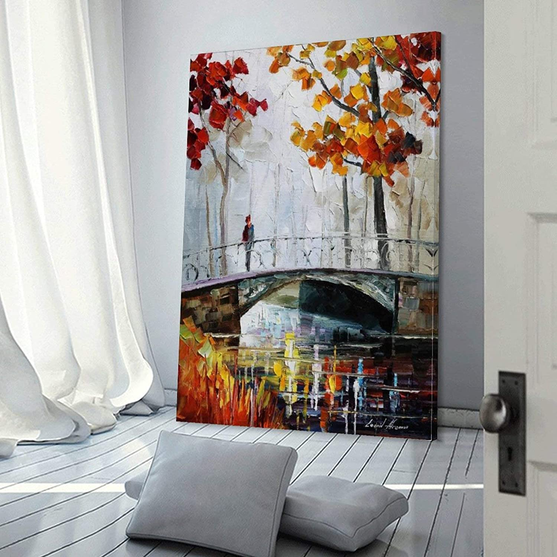 camera da letto 30 x 45 cm Dipinto a olio Dahee on The Bridge di Leonid Afremov Poster decorativo su tela da parete per soggiorno