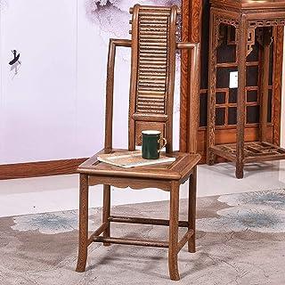 Decoración de muebles Sillas de comedor Silla de ocio Silla de comedor Muebles de cocina firmes y estables adecuados para sillas de restaurante de sala de estar (Color: Marrón Tamaño: 41x41x101cm)