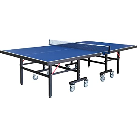 Hathaway Back Stop 9 Foot Table Tennis For Family Game Rooms With Foldable Halves For Individual Play Includes Net Paddles Balls Sports Outdoors