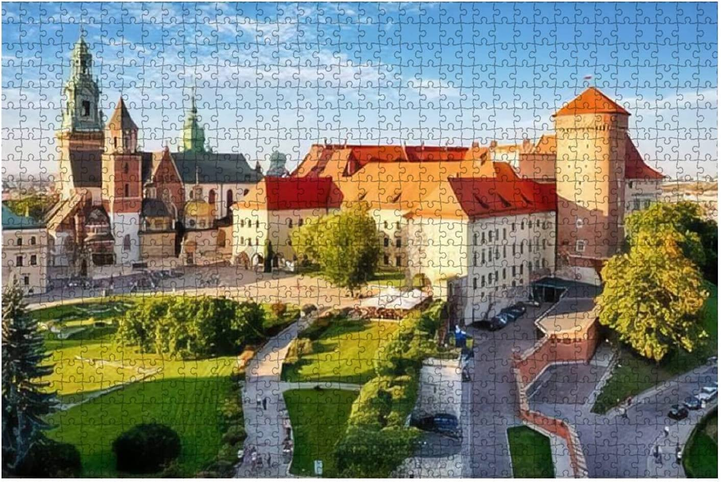1 year warranty Jigsaw Puzzle Krakow Wawel Castle at Pu Kids Wood New color Day Adults for