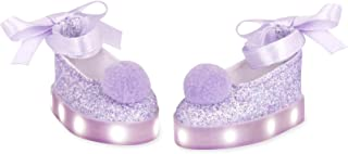 Glitter Girls by Battat – Lace Up & Twinkle Light-up Ballet Running Shoes with Soft Pompoms for 14-inch Dolls – Toys, Clot...