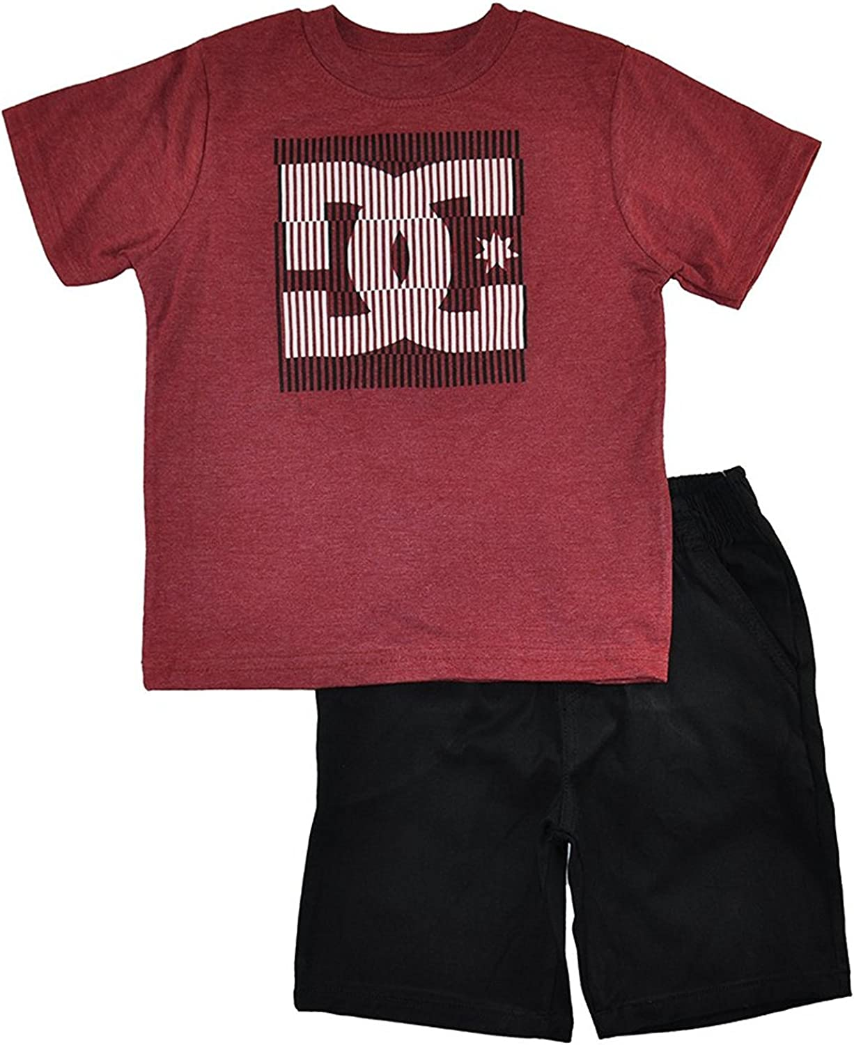 DC Shoes Max 73% OFF Little Boys Logo Top Set Tampa Mall Short 2pc