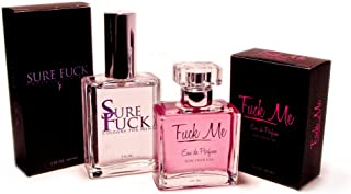 Sure Fck Cologne 2 Oz Spray & Fck Me Perfume 2 Oz Spray Great Holiday Gift Set Bundle Lovers Special Perfect Sexy Valentine's Day Gift