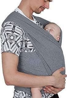 Lictin Fular Portabebés Elástico Gris Portador de Bebé ;
