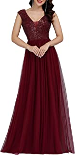 Ever-Pretty Women`s A-Line Sequins Patchwork Long Evening Gowns 0983