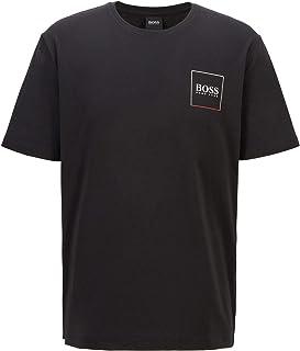 BOSS Mens Urban T-Shirt RN Crew-Neck Pyjama T-Shirt with Placement Logo Print