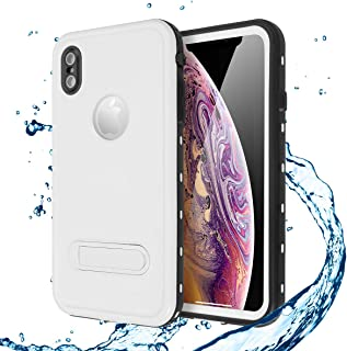 AICASEME iPhone Xs Max Waterproof Case with Kickstand Dustproof and Shockproof, IP68 Certified 360 Degree Protection Fully...