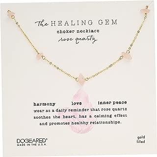 Women's Healing Gem, Rose Quartz Choker Necklace