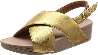 [フィットフロップ] コンフォート サンダル LULU Cross Sandals-Leather Back-Strap Sandals レディース