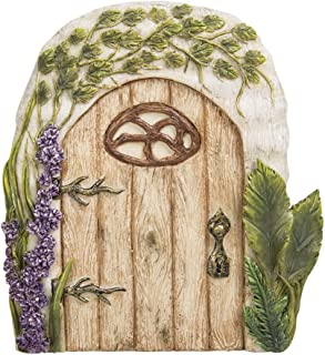 Pacific Giftware Miniature Fairy Garden of Enchantment Fairy Gnome Hobbit Oak Tree Cottage Door 4 Inches