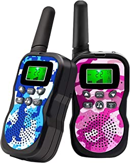 Walkie Talkies For Kids , Range Up to 3 Miles With Backlit LCD Display And Flashlight..