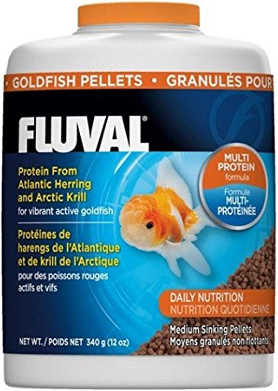 Fluval Goldfish Pellets, Goldfish Food for Vibrant Active Fish
