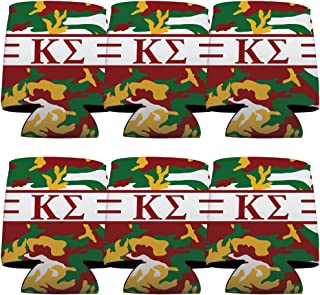 VictoryStore Can and Beverage Coolers - Kappa Sigma, Army Camo Pattern, Set of 6