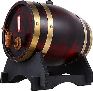 Lurrose Bois Bois De Chêne Tonneau de Vin Vinification Barils Américain Chêne Vieillissement Baril pour Le Stockage Vin Bi...