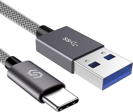 Syncwire Câble USB C 3.0 - Câble USB Type C en Ultra Résistant Nylon Tressé Charge Rapide pour Samsung Galaxy S8/S9/S10/A5/A7/Note 8, Huawei P9/P10/P20, Honor, OnePlus, Sony, LG, HTC etc - 1M Gris