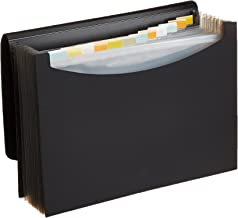 AmazonBasics Expanding Organizer File Folder, Letter Size - Black