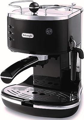 DELONGHI ECO310BK Espresso Machine, 10.2 x 9.1 x 11.8 inches, Black/Stainless