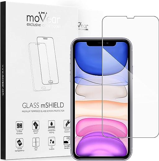moVear Panzerglas Kompatibel mit iPhone 11 / Xr [2 Stück] 2.5D Double Defense Schutzfolie aus Hartglas (9H, Kratzfest, Blasenfrei,…