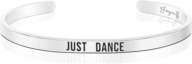 Joycuff Dancer Gifts for Girls Dainty Skinny Cuff Bracelet Just Dance Jewelry for Women