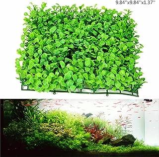 Anleo Artificial Aquarium Ornament Turf Aquatic Grass Lawn/Underwater Plastic Turf for Home Office Saltwater Freshwater Tropical Fish Tank Decorations