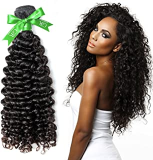 GoldRose Beauty Grade 6A Curly Hair Natural Black Color 100% Unprocessed Brazilian Remy Human Hair Extensions Deep Curly Weave Weft 1PC/Lot 100Gram 26