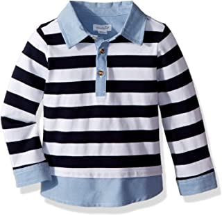 Mud Pie Baby Boys Rugby Long Sleeve Layered Shirt