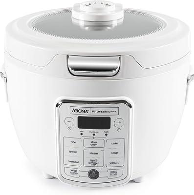 Aroma Housewares Professional - Olla de arroz (20 tazas, 4 cuartos de galería/cocina digital, función automática para mantener caliente y saltear a fuego lento