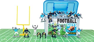 Kaskey Kids Football Guys – Navy/Light Blue Inspires Kids Imaginations with Endless Hours of Creative, Open-Ended Play – Includes 2 Teams & accessories – 28 pieces in every set!