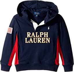 Polo Ralph Lauren Kids - Cotton Jersey Hooded Rugby (Toddler)