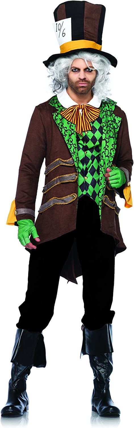 Leg Avenue Classic Mad Hatter Costume (XL, Brown)