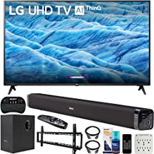 $549 » LG 49UM7300PUA 49-inch 4K HDR Smart LED IPS TV with AI ThinQ (2019) Bundle with Deco Gear Soundbar with Subwoofer, Wall Mount Kit, Deco Gear Wireless Keyboard and 6-Outlet Surge Adapter
