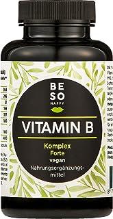 BE SO HAPPY BeSoHappy Vitamin B Komplex Forte 180 Kapseln für 6 Monate – Laborgeprüft und Getestet in Deutschland l mit Vitamine B12, B1, B2, B3, B4, B5, B6, Biotin, Folsäure l Vegan, Glutenfrei & Lactosefrei
