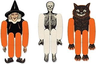 Beistle 00430 Vintage Halloween Tissue Dancers 3 Piece, 14