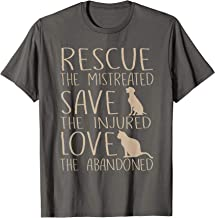 Rescue Save Love - Cute Animal Rescue Dog Cat Lovers T-Shirt
