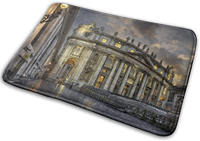 Non-Slip Doormats St Peter's Cathedral Entrance Rug Indoor/Outdoor Carpet Absorbs Moisture Washable Dirt Trapper Mats