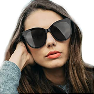 Cat Eyes Sunglasses for Women, Polarized Oversized Fashion Vintage Eyewear for Driving Fishing - 100% UV Protection
