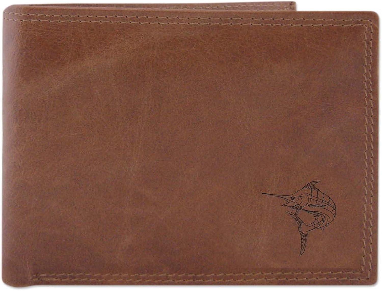 Zep Pro Marlin Embossed Leather Bi-Fold Wallet