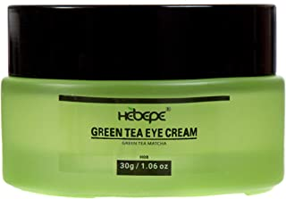 Hebepe Green Tea Matcha Eye Cream for Under&Around Eyes, with Hyaluronic Acid, Collagen, Vitamin C, E, B5, Cacao Extract, ...