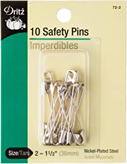 Dritz 72-2 Safety Pins, Size 2 (10-Count)