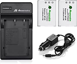 Powerextra 2 x NP-95 Battery and Charger with Car Charger Compatible with Fujifilm X100, X100T, X100S, XF10, FinePix Real 3D W1, X-S1, F30,F31fd, X30, X70 and Ricoh DB-90, GXR, GXR P10, GXR Mount A12