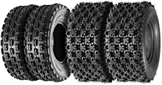 Set of 4 Sport ATV Tires 22x7-10 22x7x10 Front & 22x10-10 22x10x10 Rear 4PR Load Range B